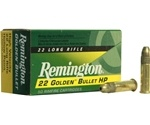 Remington Golden Bullet 22 Long Rifle 36 Grain Plated Lead HP