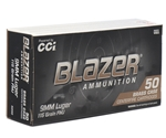 CCI Blazer Brass 9mm Luger Ammo 115 Grain Full Metal Jacket