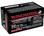Winchester Varmint HV 22 WMR Ammo 30 Grain Jacketed Hollow Point