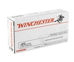 Winchester USA Ammo 45 ACP Auto 230 Jacketed Hollow Point Ammunition