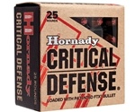 Hornady Critical Defense 38 Special Ammo 110 Grain FTX