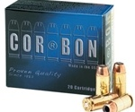 Cor-Bon Self-Defense 38 Super Ammo +P 125 Grain Jacketed Hollow Point