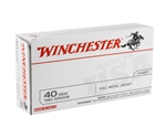 Winchester USA 40 S&W Ammo 180 Grain Full Metal Jacket Q-Loads