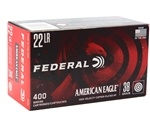 Federal American Eagle 22 LR Ammo 38 Grain Plated Lead Hollow Point 400 Rounds