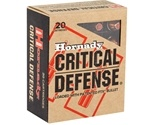 Hornady Critical Defense Ammo 40 S&W 165 Grain Flex Tip eXpanding Ammunition
