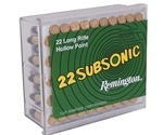 Remington Subsonic 22 Long Rifle 38 Grain Hollow Point 100 Rounds