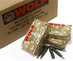 Wolf Military Classic 223 Remington 55 Grain Full Metal Jacket Bulk Ammunition
