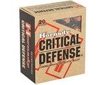 Hornady Critical Defense Ammo 45 ACP 185 Grain Flex Tip Expanding Ammunition