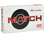 Hornady Custom Ammo 308 Winchester 168 Grain Match Hollow Point Boat Tail Ammunition