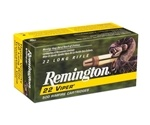 Remington Viper Hyper Velocity Ammo 22 Long Rifle 36 Grain Plated Truncated Cone Ammunition