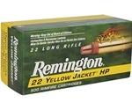 Remington Yellow Jacket HV 22 LR 33 Gr Plated Truncated Cone HP