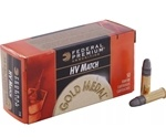 Federal Gold Medal Target Ammo 22 Long Rifle40 Grain Lead Round Nose
