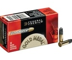 Federal Gold Medal Ultra Match 22 LR Ammo 40 Grain Lead Round Nose