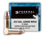 Federal Game-Shok 22 Long Rifle Ammo Hyper Velocity 31 Grain PLHP