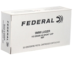 Federal Law Enforcement 9mm Luger 115 Grain Hi-Shok JHP