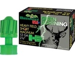 "Brenneke USA Green Lightning Heavy Field Short Magnum 12 Gauge Ammo 2 3/4"" 1 1/4 oz Lead Rifled Slug"