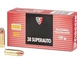 Fiocchi Shooting Dynamics 38 Super Ammo 129 Grain Full Metal Jacket