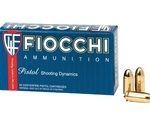 Fiocchi Shooting Dynamics 357 SIG Ammo 124 Grain Full Metal Jacket