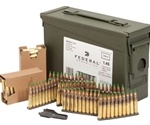 Federal Lake City 5.56mm NATO Ammo 62 Grain FMJ On Clips in Can