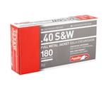 Aguila 40 S&W Ammo 180 Grain Full Metal Jacket