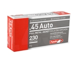 Aguila Ammo 45 ACP AUTO 230 Grain Full Metal Jacket Ammunition