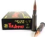 Tula Ammo 7.62x54R Rimmed Russian Ammo 148 Grain Full Metal Jacket