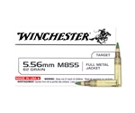 Winchester M855 5.56x45mm NATO 62 Grain Green Tip Full Metal Jacket Ammunition