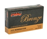 PMC Bronze 223 Remington Ammo 55 Grain Full Metal Jacket