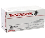 Winchester USA Ammo 223 Remington 45 Grain Jacketed Hollow Point Value Pack Ammunition