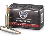 MFS Ammo 308 Winchester 140 Grain Soft Point Ammunition