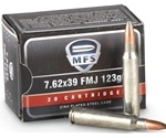 MFS 7.62x39mm Ammo 125 Grain Soft Point