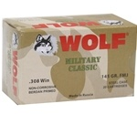 Wolf Military Classic 308 Winchester Ammo 145 Grain Full Metal Jacket