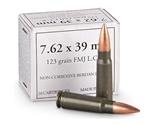 Wolf 7.62x39mm Ammo 123 Grain FMJ Steel Case