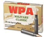 Wolf Military Classic 30-06 Springfield 145 Grain Full Metal Jacket Ammunition