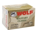 Wolf Military Classic 223 Remington Ammo 62 Grain Full Metal Jacket