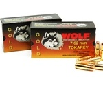 Wolf Gold 7.62x25mm Tokarev Ammo 85 Grain Full Metal Jacket