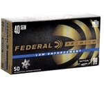 Federal LE HST 40 S&W Ammo 180 Grain Jacketed Hollow Point