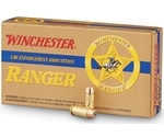 Winchester Ranger 40 S&W Ammo 165 Grain Bonded Jacketed Hollow Point