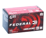 Federal American Eagle 45 ACP Auto Ammo 230 Grain FMJ 100 Rds Value Pack