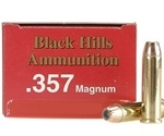 Black Hills 357 Magnum Ammo 158 Grain Jacketed Hollow Point