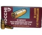 Fiocchi 30 Luger Ammo 93 Grain Jacketed Soft Point