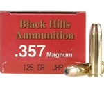 Black Hills 357 Magnum Ammo 125 Grain Jacketed Hollow Point