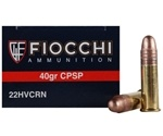 Fiocchi 22 Long Rifle Ammo 40 Grain Copper Plated Solid Point