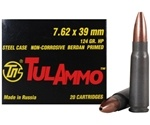 Tula Ammo 7.62x39mm Ammo Russian 124 Grain Jacketed Hollow Point