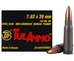 Tul Ammo 7.62x39mm Russian 122 JHP Steel Case