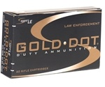 Speer Gold Dot LE Duty Ammo 223 Remington 62 Grain Soft Point