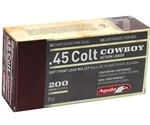 Aguila 45 Long Colt 200 Grain Round Nose Flat Point Ammunition