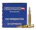 Ultramax Remanufactured Ammo 223 Remington 55 Grain Full Metal Jacket Ammunition