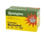 "Remington Express Value Pack Ammunition 12 Gauge 2-3/4"" 00 Buckshot 9 Pellets Box of 5"