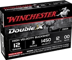 "Winchester Double X Magnum 12 Gauge 3"" Buffered 00 CP Buckshot 12 Pellets"